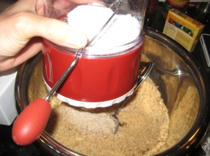sift sugar into bowl